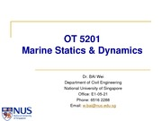 OT5201 (pdf) 1. Introduction to Offshore Structures