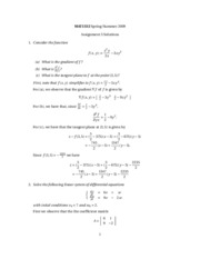 Calculus 2 - Assignment 5 Solutions