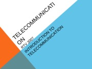 Telecommunication Overview