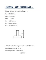 DEIGN   OF  FOOTING