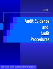 07. Audit Evidence_Update 2015A