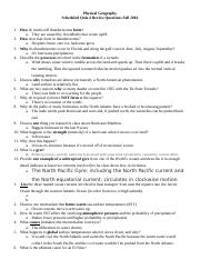 Quiz 4 Review Questions
