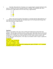 Normal practice problems from midterm practice questions