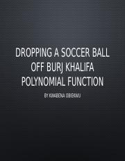 Dropping A Soccer Ball off Burj Khalifa