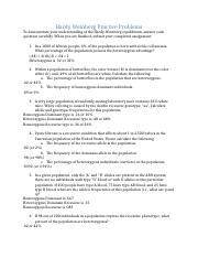 hardy weinberg worksheet.doc - Hardy Weinberg Equilibrium ...