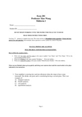 201 sample midterm1 Adts exam prep [solution], getting started: drawing in project 2 partner form  due friday midterm 1 (date 2/12, 8-10pm) material up to 2/7 [solution] [video.