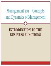 Lecture 6. INTRODUCTION TO BUSINESS FUNCTIONS