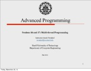 Sessions 16 and 17 - Multi-thread Programming