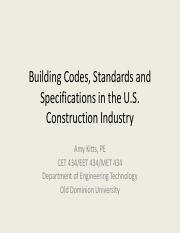 CET Codes and Specifications