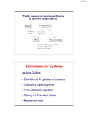 Lecture 2 - Environmental Systems - Sept7
