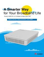 HG8247H Datasheet pdf - A Smarter Way for Your Broadband Life Huawei