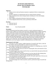 Email Assignment Guidelines