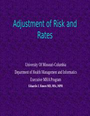 8544- 8- Adjustment of Risk and Rates