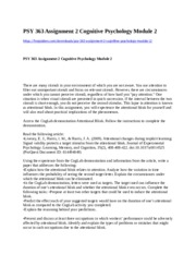 277332939-PSY-363-Assignment-2-Cognitive-Psychology-Module-2