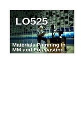 01_LO525_Materials Planning in MM and Forecasting