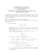 EC400 Maths Exam 2014 SOLUTIONS