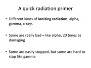 A quick radiation primer