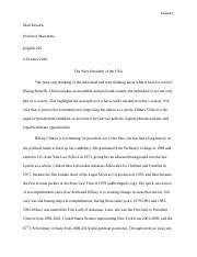 Eng 106 Presidential Candidate Rough Draft