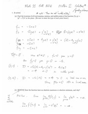 MATH 11 Fall 2010 Midterm Exam 2 Solutions