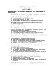 ACC202 Exam 4 student copy chapter 10 Spring 2012