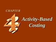 CH04 Activity-Based Costing