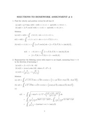 MATH 317 Spring 2014 Assignment 3 Solutions