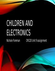 children and elec power point