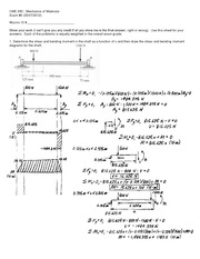 Exam 2 Solution Spring 2012 on Mechanics of Materials