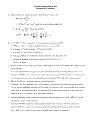 Econ 281 Fall 2010 Problem Set 3 - Solutions