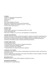 syllabus professional comm fall 2014