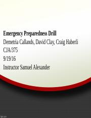 Power point emergency drill