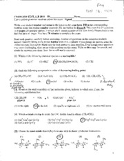 Chem 2535 Exam 1 B Fall 2011 Key