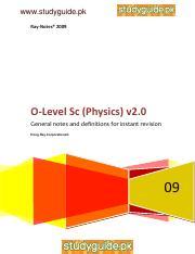 O level physics quick revision pdf - www studyguide pk
