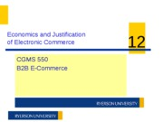 CGMS550 W11 Week 12 - Justification of Electronic Commerce