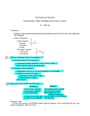 Derivatives Review Note
