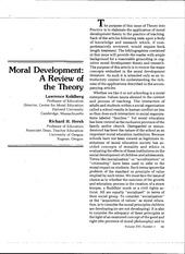 Article - Moral Development - A review of the theory