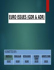 FM - Euro Issues