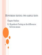 2 sample para tests