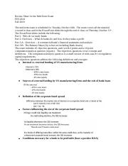 FIN 4324 Complete Exam Review-Clark .docx