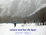 14 - Leisure and the Life Span