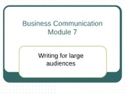 Module 7 Writing for Large audience