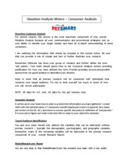 Situation Analysis Memo - Consumer Analysis