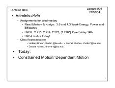 Lect 06 Const-Depend Motion