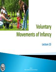 Lecture 14 - Voluntary Movements of Infancy.pdf