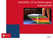 INFS2001 Lecture 9 - Enhancing Performance(1)