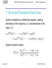 Lecture 17 - Nov.14.2013 - System Transfer Function