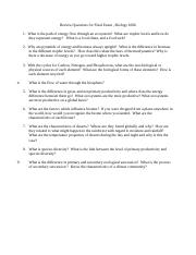 Review Questions for Exam4_I