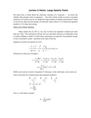 Lecture 6 Notes Large Density Points