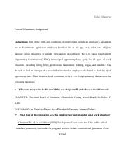 Lesson 5 Summary Assignment Business Law.docx