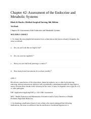 chapter 48 nursing assessment endocrine system Nursing assessment: endocrine system  structures and functions of endocrine system fig 48-1  chapter 34 chapter endocrine and the system it.